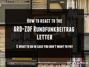 Rundfunkbeitrag letter german TV tax
