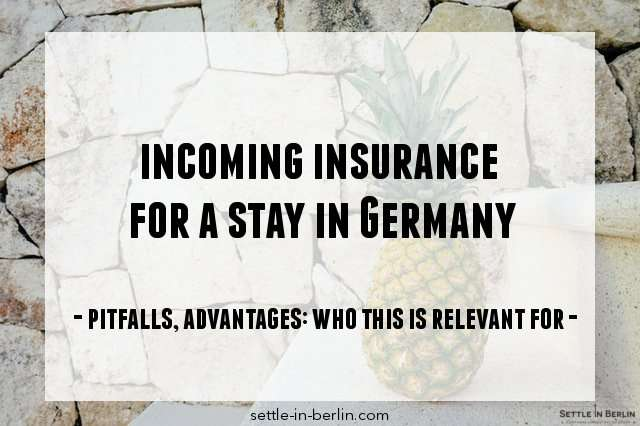 incoming insurance germany