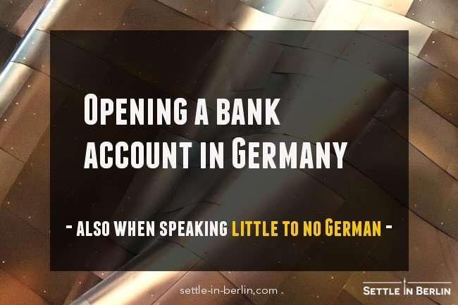 Open a bank account in Germany