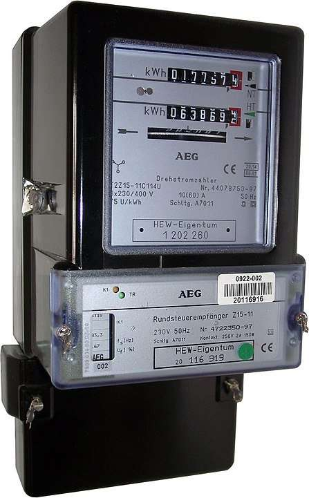 electricity meter in Germany