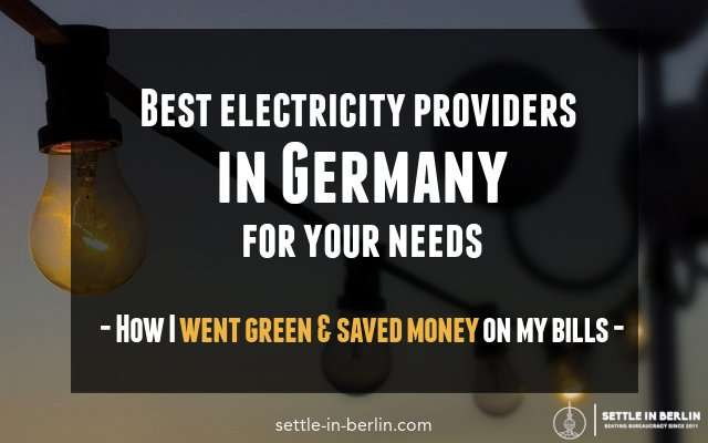 Best electricity providers germany